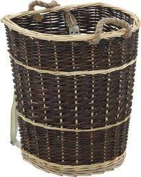 vidaXL Plecak na drewno opałowe, 44,5x37x50 cm, naturalna wiklina