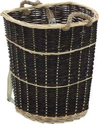 vidaXL Plecak na drewno opałowe, 57x51x69 cm, naturalna wiklina