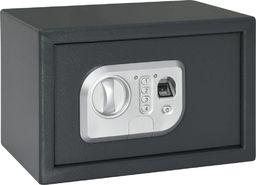 vidaXL Sejf cyfrowy otwierany odciskiem palca, ciemnoszary, 31x20x20cm