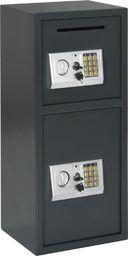 vidaXL Sejf cyfrowy z podwójnymi drzwiami, ciemnoszary, 35x31x80 cm