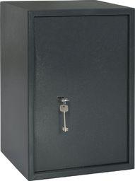 vidaXL Sejf mechaniczny, ciemnoszary, 35 x 31 x 50 cm, stal