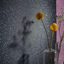 vidaXL Tapeta, 2 rolki, gładka, lśniąca czerń, 0,53 x 10 m
