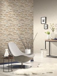vidaXL Tapeta, 2 rolki, brązowo-szara, 0,53 x 10 m, wzór cegieł