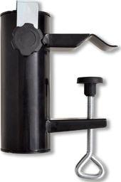 vidaXL Uchwyt na parasol, stalowy, czarny