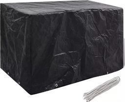 vidaXL Pokrowiec na meble ogrodowe, 8 oczek, 140 x 70 x 90 cm