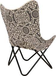 vidaXL Krzesło motyl z nadrukiem, płótno