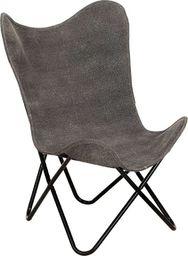 vidaXL Krzesło motyl, antracytowe, płótno