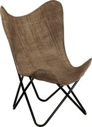 vidaXL Krzesło motyl, taupe, płótno