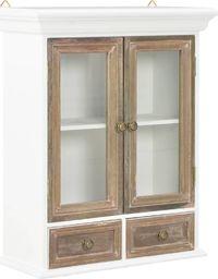 vidaXL Szafka wisząca, biała, 49 x 22 x 59 cm, lite drewno