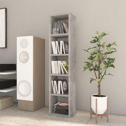 vidaXL Szafka na płyty CD, betonowa szarość, 21x16x93,5 cm