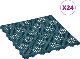 vidaXL Płytki ogrodowe, 24 szt., zielone, 29x29 cm, plastikowe