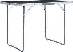 vidaXL Składany stolik turystyczny, szary, aluminiowy, 120 x 60 cm