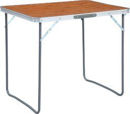 vidaXL Składany stolik turystyczny z metalową ramą, 80x60 cm