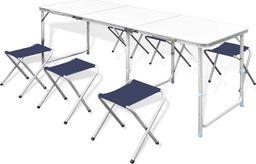 vidaXL Zestaw turystyczny: stół i 6 stołków, regulacja wysokości
