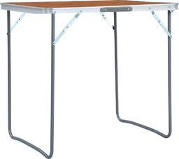 vidaXL Składany stolik turystyczny, aluminiowy, 60 x 45 cm