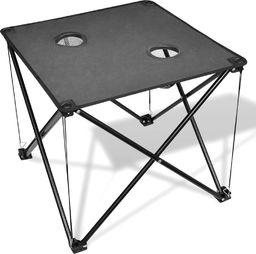 vidaXL Składany stół kempingowy szary