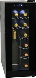 Chłodziarka do wina vidaXL Chłodziarka do wina, 35 l, 12 butelek, wyświetlacz LCD