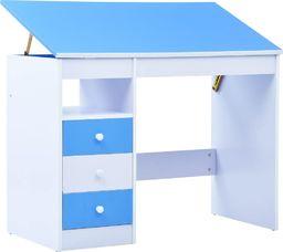 vidaXL Biurko dla dzieci z odchylanym blatem, niebiesko-białe