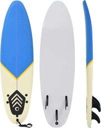vidaXL Deska surfingowa, 170 cm, niebiesko-kremowa