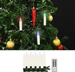 Lampki choinkowe vidaXL Bożonarodzeniowe świece LED, bezprzewodowe, z pilotem, 10 szt.