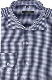 vidaXL Męska koszula biznesowa w biało-granatową kratę rozmiar S