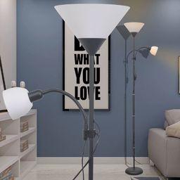 Lampa podłogowa vidaXL Lampa podłogowa czarna