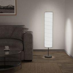 Lampa podłogowa vidaXL Lampa podłogowa na stojaku, 121 cm, biała, E27