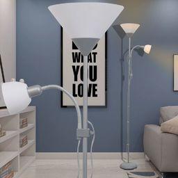 Lampa podłogowa vidaXL Lampa podłogowa szara