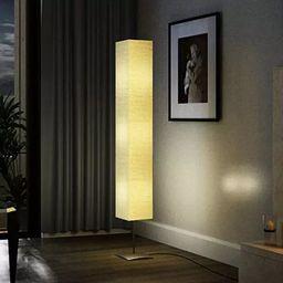 Lampa podłogowa vidaXL Lampa podłogowa ze stalową podstawą, 170 cm, beżowa