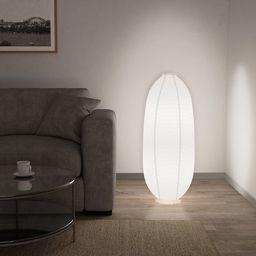 Lampa podłogowa vidaXL Lampa podłogowa, biała, E14