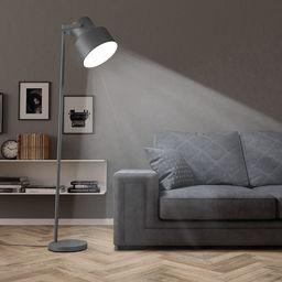 Lampa podłogowa vidaXL Lampa podłogowa, metalowa, szara, E27