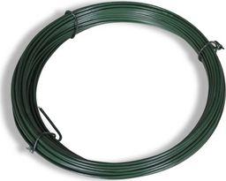 vidaXL Drut naciągowy do ogrodzenia, 25 m, 1,4/2 mm, stalowy, zielony