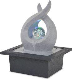 vidaXL Fontanna pokojowa ze światłem LED, żywica poliestrowa