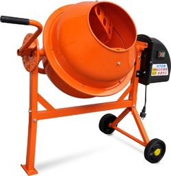 vidaXL Elektryczna betoniarka 63 L 220 W z pomarańczowej stali