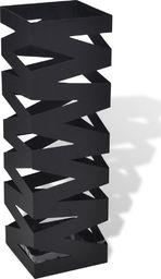 vidaXL Kwadratowy stojak na parasole i laski, czarny, stalowy, 48,5 cm