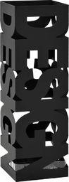 vidaXL Stojak na parasole w formie napisu design, stalowy, czarny