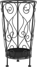 vidaXL Stojak na parasole w stylu vintage, metalowy, 26x46 cm, czarny