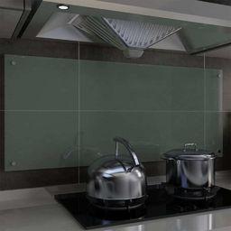 vidaXL Panel ochronny do kuchni, biały, 120x50 cm, hartowane szkło