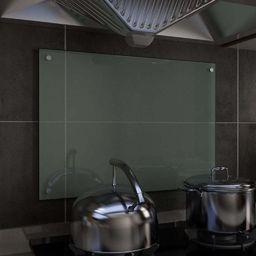 vidaXL Panel ochronny do kuchni, biały, 70x50 cm, szkło hartowane