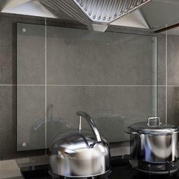 vidaXL Panel ochronny do kuchni, przezroczysty, 80x60 cm, szkło