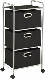 vidaXL Regał z 3 pudełkami do przechowywania, stal i włóknina