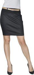 vidaXL Spódnica mini z paskiem, czarna, 36