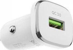 Ładowarka Borofone Borofone - ładowarka samochodowa USB z QC3.0, biały