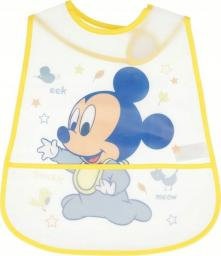 Śliniak Mickey Mouse z kieszonką żółty