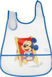 Śliniak Mickey Mouse z kieszonką niebieski