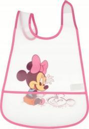 Śliniak Mickey Mouse z kieszonką różowy