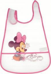 Śliniak Mickey Mouse z kieszonką różowy 2 szt.