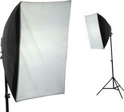 Lampa studyjna Massa SOFTBOX 60x60cm + LAMPA + ŻARÓWKA 400W / 85W + STATYW