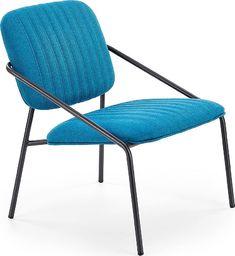 Elior Industrialny fotel wypoczynkowy Venser - niebieski