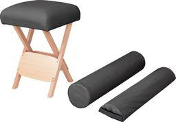 vidaXL Składany stołek do masażu z 2 wałkami, grubość siedziska 12 cm